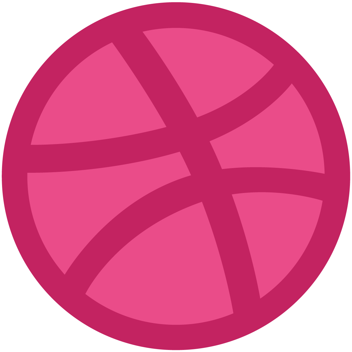 dribbble ball logo